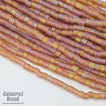 10/0 Matte Smoked Topaz AB 2 Cut Czech Seed Bead (Hank) #CSM035-General Bead