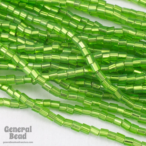 10/0 Silver Lined Lime 2 Cut Czech Seed Bead (Hank) #CSM050-General Bead