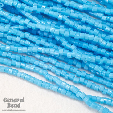 11/0 Opaque Turquoise 2 Cut Czech Seed Bead (10 Gm, Hank, 1/2 Kilo) #CSN026-General Bead