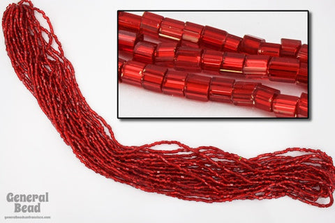 11/0 Silver Lined Red 2 Cut Czech Seed Bead (10 Gm, Hank, 1/2 Kilo) #CSN047-General Bead