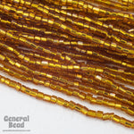 11/0 Silver Lined Dark Topaz 2 Cut Czech Seed Bead (10 Gm, Hank, 1/2 Kilo) #CSN061-General Bead