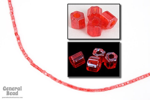 11/0 Luster Ruby 2 Cut Czech Seed Bead (10 Gm, Hank, 1/2 Kilo) #CSN085-General Bead