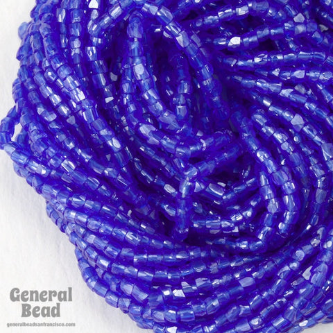 12/0 Luster Transparent Sapphire 3-Cut Czech Seed Bead (5 Gm, Hank, 10 Hanks) #CSR016-General Bead