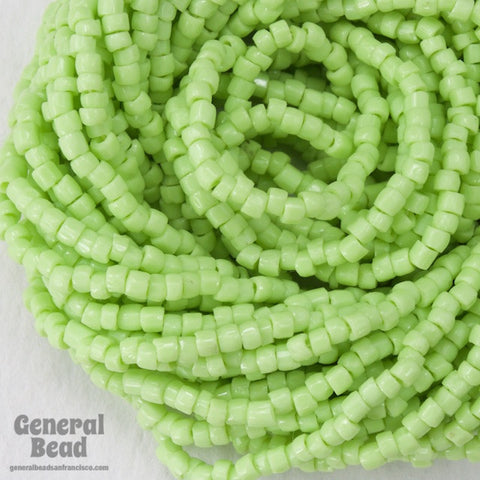 12/0 Opaque Lime 3-Cut Czech Seed Bead (5 Gm, Hank, 10 Hanks) #CSR057-General Bead