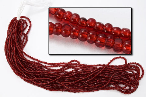 13/0 Transparent Dark Ruby Charlotte Cut Seed Bead-General Bead