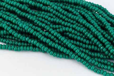 13/0 Forest Green Charlotte Cut Seed Bead (Hank) #CSS058-General Bead