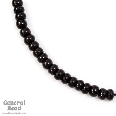 1/0 Opaque Black Czech Seed Bead