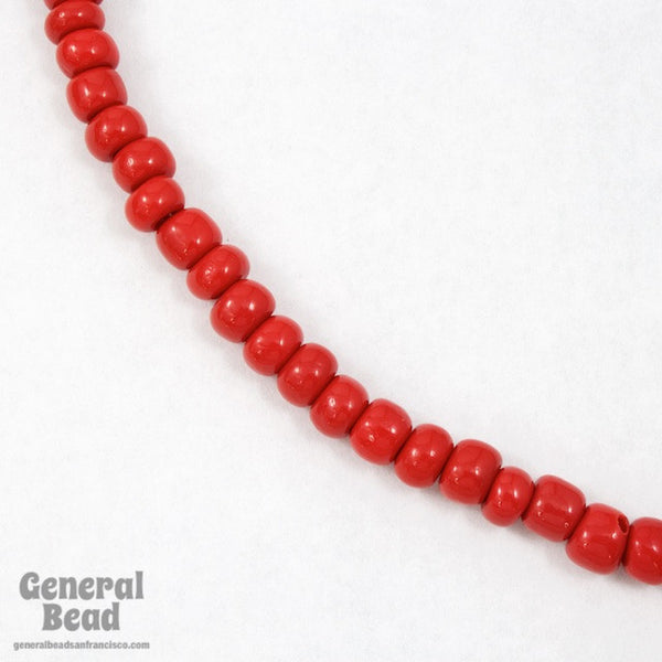 1/0 Opaque Red Czech Seed Bead