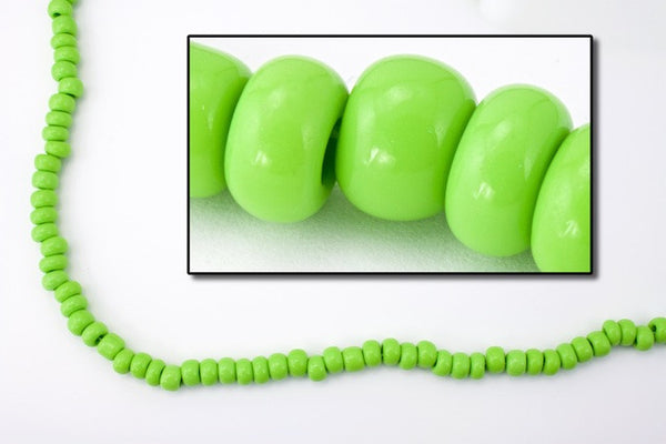 1/0 Opaque Leaf Green Czech Seed Bead