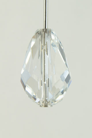 9mm x 13.5mm Preciosa Crystal Faceted Teardrop #CZ5500