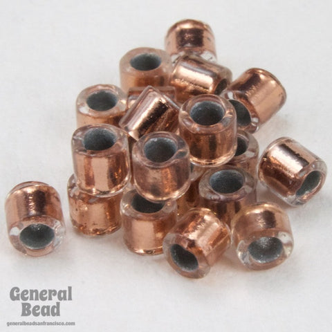 DBL037- 8/0 Copper Lined Crystal Delica Beads