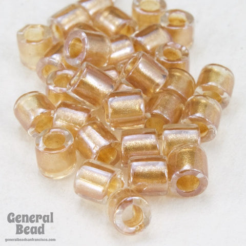 DBL901- 8/0 Shimmering Rose Gold Lined Crystal Delica Beads