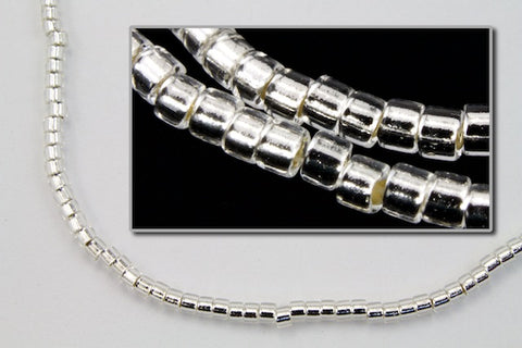 DBL041- 8/0 Silver Lined Crystal Delica Beads