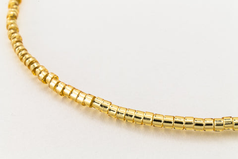 DBL042- 8/0 Silver Lined Gold Delica Beads