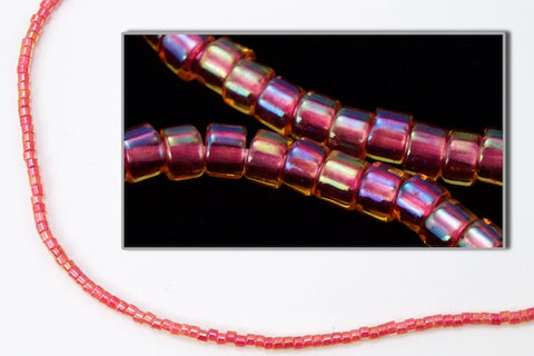 DBL062- 8/0 Strawberry Lined Crystal AB Delica Beads