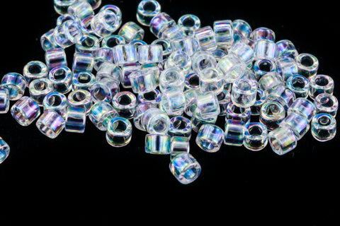 DB083- 11/0 Light Aqua Lined Crystal AB Delica Beads