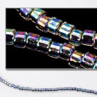 DBV086- 11/0 Dark Blue Lined Crystal Aurora Borealis Delica Beads-General Bead