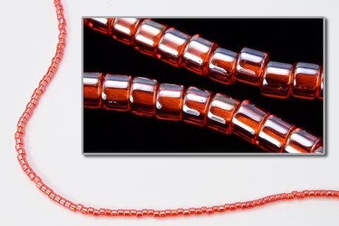 DBL098- 8/0 Transparent Luster Coral Delica Beads
