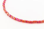 DBV172- 11/0 Transparent Dark Orange Aurora Borealis Delica Beads-General Bead