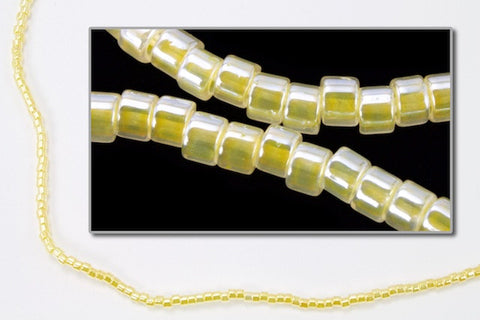 DBV233- 11/0 Yellow Lined Crystal Luster Delica Beads-General Bead