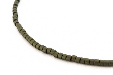 DBL311- 8/0 Matte Metallic Olive Green Delica Beads