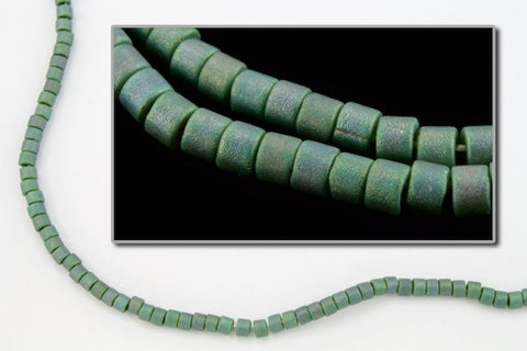 DBV373- 11/0 Matte Metallic Leaf Green Delica Beads-General Bead