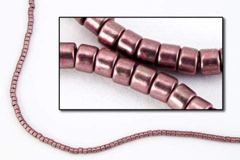 DBV462- 11/0 Galvanized Grey Mauve Delica Beads-General Bead