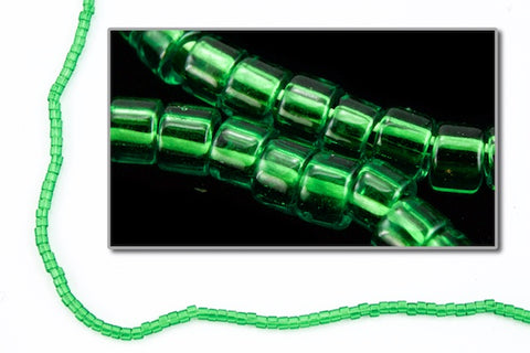 DBL705- 8/0 Transparent Kelly Green Delica Beads