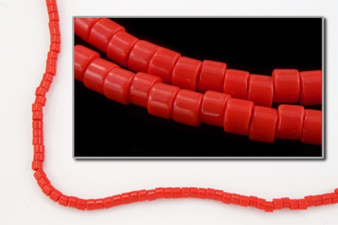 DBL723- 8/0 Opaque Red Delica Beads