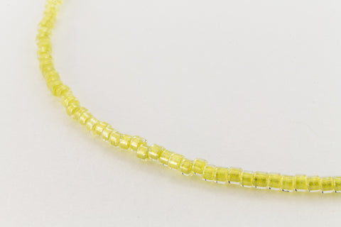 DBV910- 11/0 Shimmering Light Yellow Lined Crystal Delica Beads-General Bead