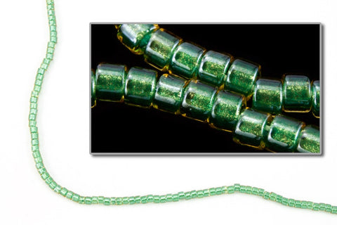 DBV917- 11/0 Shimmering Light Emerald Lined Crystal Delica Beads-General Bead