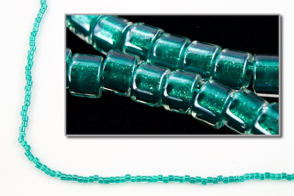 DBV918- 11/0 Shimmering Teal Lined Crystal Delica Beads