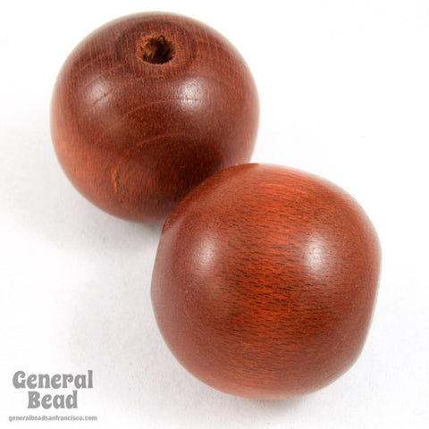 16mm Red Brown Wood Bead #DXB025