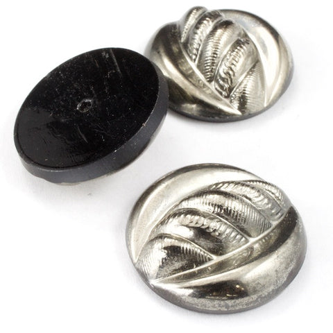 23mm Gunmetal Rope Twist Round Cabochon #FGA068-General Bead