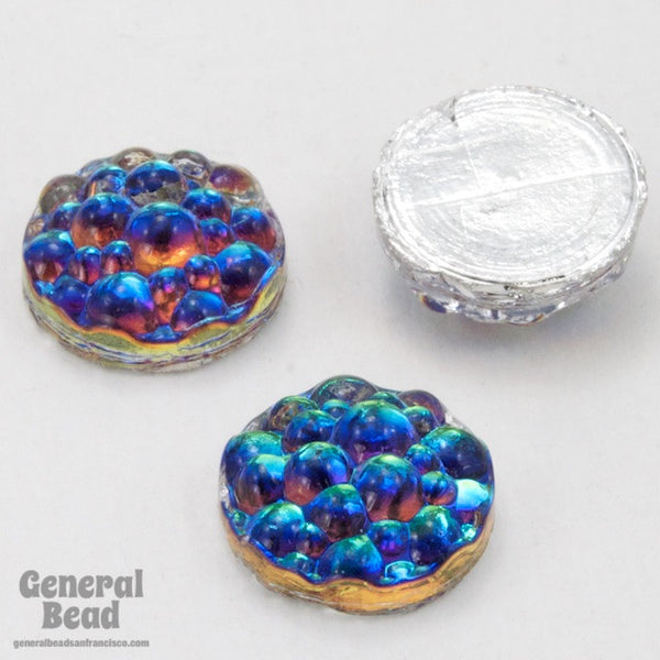 10mm Bermuda Blue Bubble Cabochon