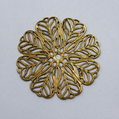 Filigree #12 Raw Brass