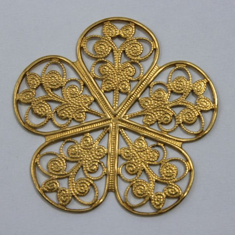 Filigree #14 Raw Brass