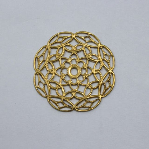 Filigree #21 Raw Brass
