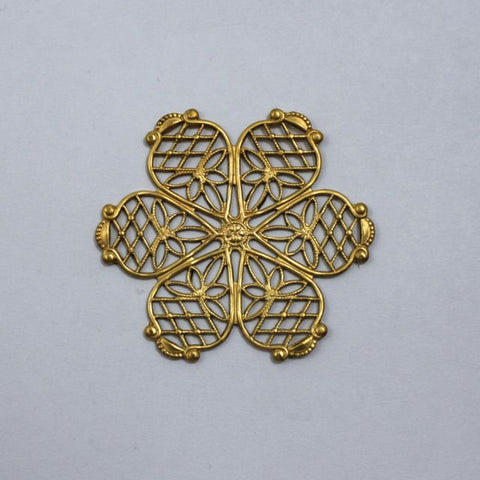 Filigree #25 Raw Brass