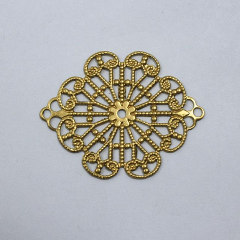 Filigree #28 Raw Brass