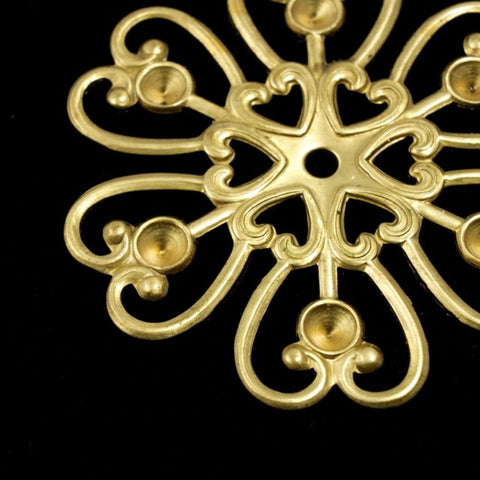 Filigree #33 Raw Brass