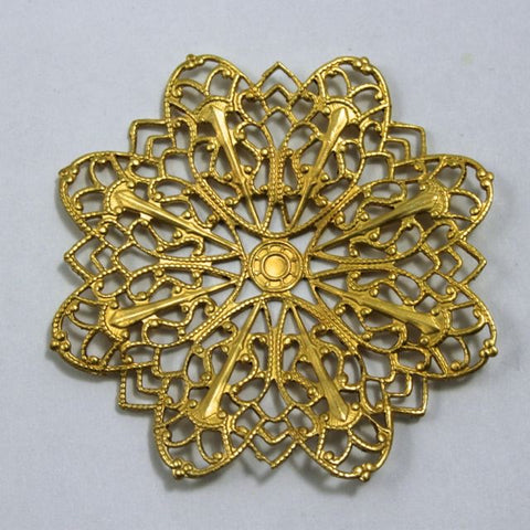 Filigree #38 Raw Brass