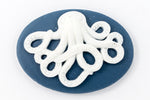 18mm x 25mm Blue and White Octopus Cameo #FPA100-General Bead