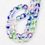 4mm Crystal/Pink/Blue/Green Swirl Fire Polished Bead-General Bead