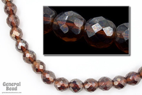 10mm Dark Topaz Luster Fire Polished Bead-General Bead