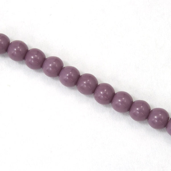 4mm Opaque Purple Druk Bead #GAB021