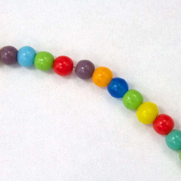 4mm Opaque Multi Druk Bead #GAB079
