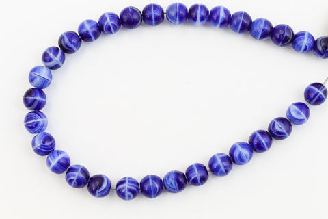 10mm Agate Blue Druk Bead (300 Pcs) #GAG053