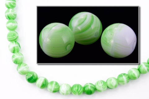10mm Agate Green Druk Bead (300 Pcs) #GAG056
