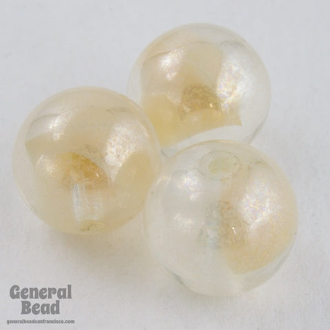 10mm Beige Cloud Druk Bead (10 Pcs) #GAG012